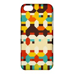 Shapes In Retro Colors 			apple Iphone 5c Hardshell Case by LalyLauraFLM