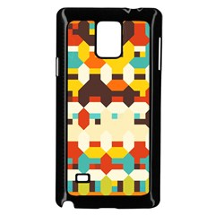 Shapes In Retro Colors 			samsung Galaxy Note 4 Case (black) by LalyLauraFLM