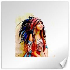 Indian 22 Canvas 16  X 16   by indianwarrior