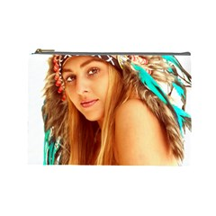 Indian 27 Cosmetic Bag (large)  by indianwarrior