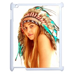Indian 27 Apple Ipad 2 Case (white) by indianwarrior