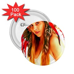 Indian 25 2 25  Buttons (100 Pack)  by indianwarrior