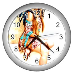 Indian 18 Wall Clocks (silver)  by indianwarrior