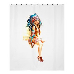 Indian 18 Shower Curtain 60  X 72  (medium)  by indianwarrior
