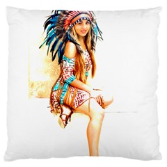 Indian 18 Standard Flano Cushion Case (two Sides) by indianwarrior