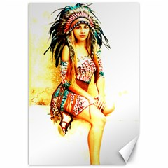 Indian 16 Canvas 12  X 18   by indianwarrior