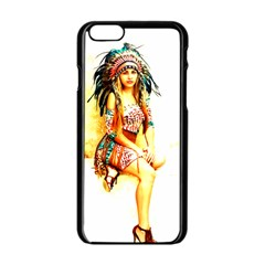 Indian 16 Apple Iphone 6/6s Black Enamel Case by indianwarrior