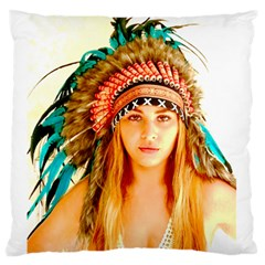 Indian 28 Standard Flano Cushion Case (two Sides) by indianwarrior