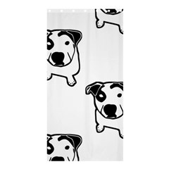 Pit Bull T Bone Graphic  Shower Curtain 36  X 72  (stall)  by ButThePitBull