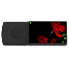 Roses 1 Usb Flash Drive Rectangular (4 Gb)  by timelessartoncanvas