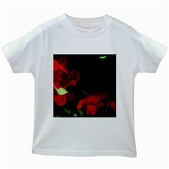 Roses 2 Kids White T-shirts by timelessartoncanvas