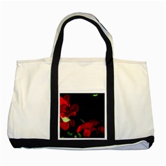 Roses 2 Two Tone Tote Bag by timelessartoncanvas