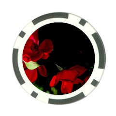 Roses 2 Poker Chip Card Guards (10 Pack)  by timelessartoncanvas