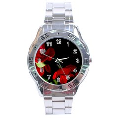 Roses 2 Stainless Steel Analogue Watch by timelessartoncanvas