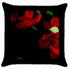 Roses 3 Throw Pillow Case (black) by timelessartoncanvas