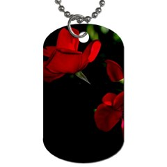 Roses 3 Dog Tag (two Sides) by timelessartoncanvas