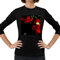 Roses 3 Women s Long Sleeve Dark T-shirts by timelessartoncanvas