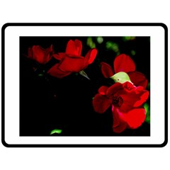 Roses 3 Double Sided Fleece Blanket (large)  by timelessartoncanvas