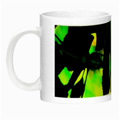 Red Roses And Bright Green 1 Night Luminous Mugs by timelessartoncanvas