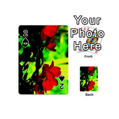 Red Roses And Bright Green 1 Playing Cards 54 (mini)
