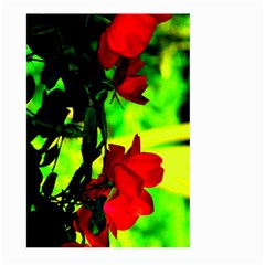 Red Roses And Bright Green 1 Large Garden Flag (two Sides) by timelessartoncanvas