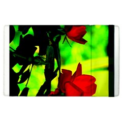 Red Roses And Bright Green 1 Apple Ipad 2 Flip Case by timelessartoncanvas