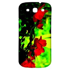 Red Roses And Bright Green 1 Samsung Galaxy S3 S Iii Classic Hardshell Back Case by timelessartoncanvas