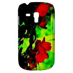 Red Roses And Bright Green 1 Samsung Galaxy S3 Mini I8190 Hardshell Case by timelessartoncanvas