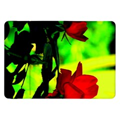 Red Roses And Bright Green 1 Samsung Galaxy Tab 8 9  P7300 Flip Case by timelessartoncanvas