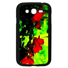 Red Roses And Bright Green 1 Samsung Galaxy Grand Duos I9082 Case (black) by timelessartoncanvas
