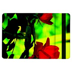 Red Roses And Bright Green 1 Ipad Air Flip by timelessartoncanvas