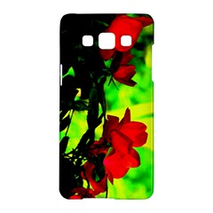 Red Roses And Bright Green 1 Samsung Galaxy A5 Hardshell Case  by timelessartoncanvas