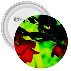 Red Roses And Bright Green 2 3  Buttons by timelessartoncanvas
