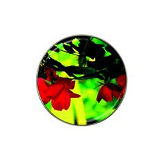 Red Roses And Bright Green 2 Hat Clip Ball Marker (10 Pack) by timelessartoncanvas