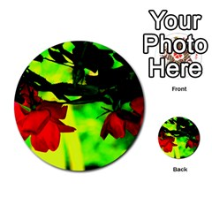 Red Roses And Bright Green 2 Multi-purpose Cards (round)  by timelessartoncanvas