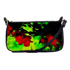 Red Roses And Bright Green 2 Shoulder Clutch Bags by timelessartoncanvas