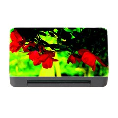 Red Roses And Bright Green 2 Memory Card Reader With Cf by timelessartoncanvas