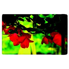Red Roses And Bright Green 2 Apple Ipad 3/4 Flip Case by timelessartoncanvas