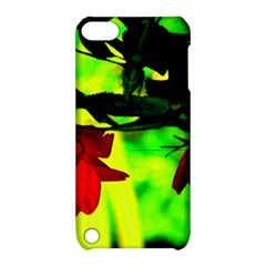 Red Roses And Bright Green 2 Apple Ipod Touch 5 Hardshell Case With Stand by timelessartoncanvas