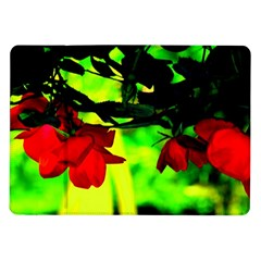 Red Roses And Bright Green 2 Samsung Galaxy Tab 10 1  P7500 Flip Case by timelessartoncanvas