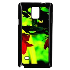 Red Roses And Bright Green 2 Samsung Galaxy Note 4 Case (black) by timelessartoncanvas