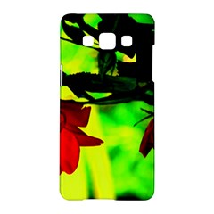 Red Roses And Bright Green 2 Samsung Galaxy A5 Hardshell Case