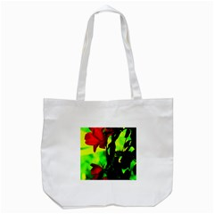 Red Roses And Bright Green 3 Tote Bag (white) by timelessartoncanvas