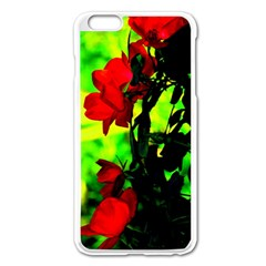 Red Roses And Bright Green 3 Apple Iphone 6 Plus/6s Plus Enamel White Case by timelessartoncanvas