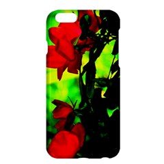 Red Roses And Bright Green 3 Apple Iphone 6 Plus/6s Plus Hardshell Case by timelessartoncanvas