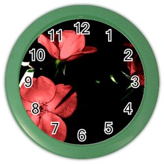 Mauve Roses 2 Color Wall Clocks by timelessartoncanvas