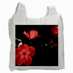 Mauve Roses 2 Recycle Bag (two Side)  by timelessartoncanvas
