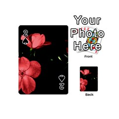 Mauve Roses 2 Playing Cards 54 (mini)  by timelessartoncanvas
