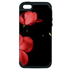 Mauve Roses 2 Apple Iphone 5 Hardshell Case (pc+silicone) by timelessartoncanvas