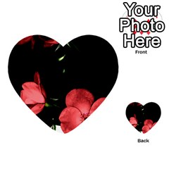 Mauve Roses 3 Multi Purpose Cards (heart)  by timelessartoncanvas
